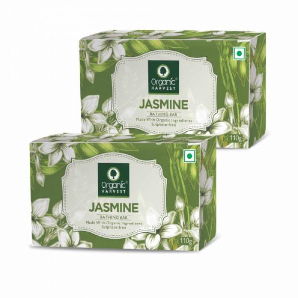 Organic Harvest Jasmine Bathing Bar, 110gm (Pack Of 2)