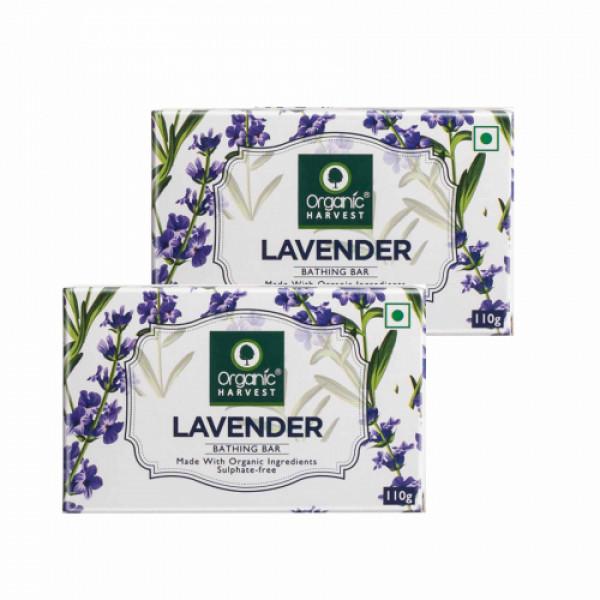 Organic Harvest Lavender Bathing Bar, 110gm (Pack Of 2)