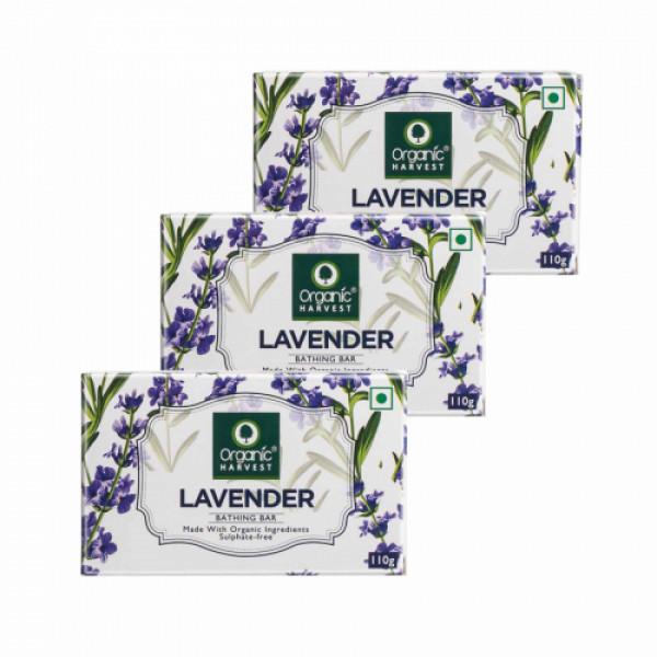 Organic Harvest Lavender Bathing Bar, 110gm (Pack Of 3)