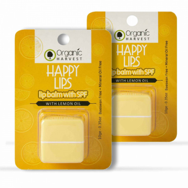 Organic Harvest Lip Balm with SPF, 10gm  (Pack Of 2)