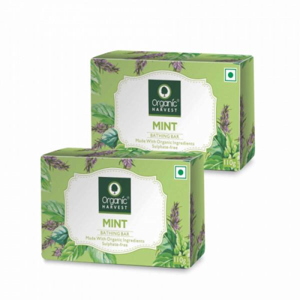 Organic Harvest Mint Bathing Bar, 110gm (Pack Of 2)