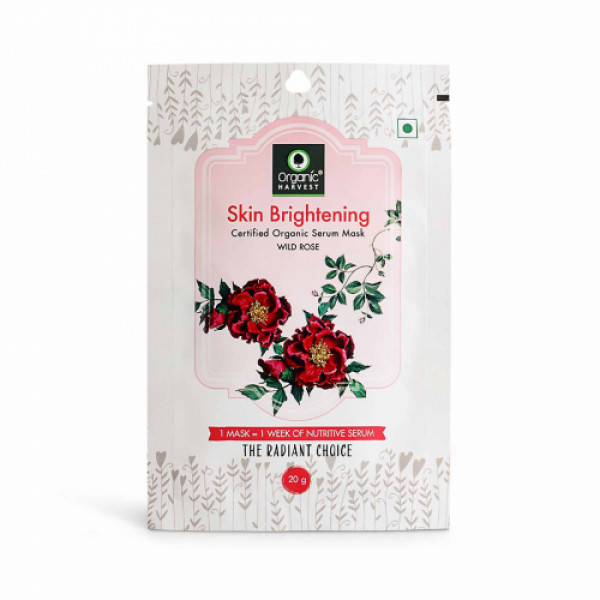 Organic Harvest Skin Brightening Face Sheet Mask, 20gm (Pack Of 10)