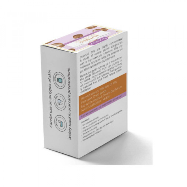 Bonsoul Organic Nutmeg Essential Oil, 10ml