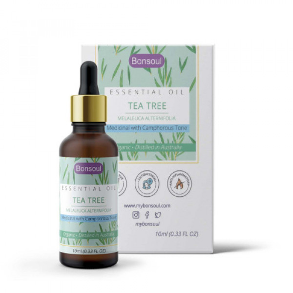 Bonsoul Wild Crafted Organic Tea Tree Essential Oil, 10ml