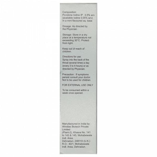 Oroclear Povidone Iodine 0.5% w/v Mouth Spray, 50ml