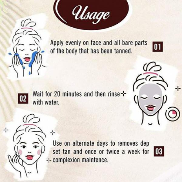 Keya Seth Aromatherapy Oxy De Tan Pack Instant Tan Removal, 180gm
