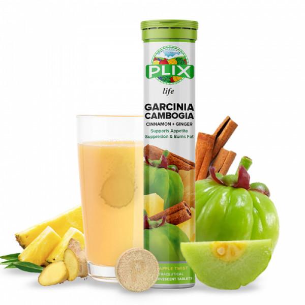 Plix life Garcinia Cambogia Effervescent Pineapple Twist Flavour, 15 Tablets