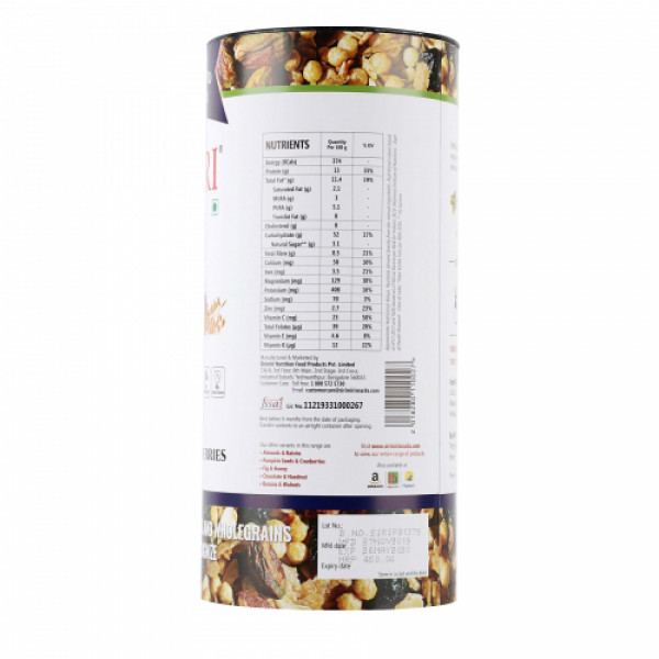 Sirimiri Premium Toasted Millet Muesli With Pistachios & Blueberries, 500gm
