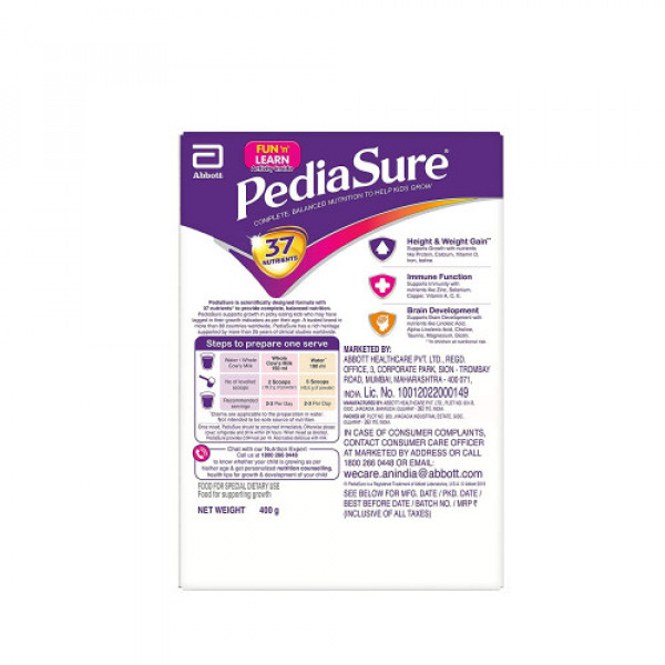 PediaSure Vanilla Delight Refill Pack, 400gm