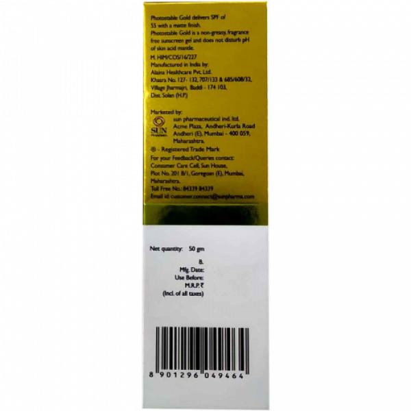 Photostable Gold Sunscreen Gel, 50gm