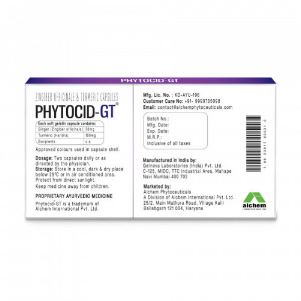 AlchemLife Phytocid GT, 10 Capsules
