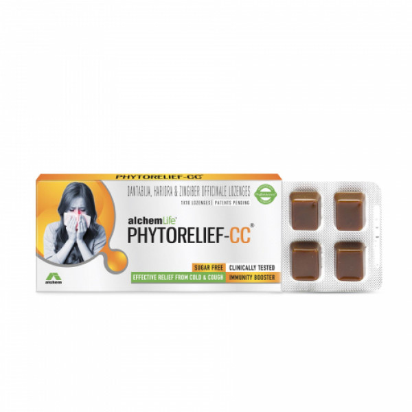 AlchemLife PhytoRelief CC - Natural Immunity Booster Fights Viral, Cough & Cold, 2X10 Tablets