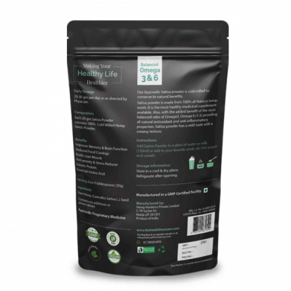 Health Horizons Hemp Sativa Powder, 150gm