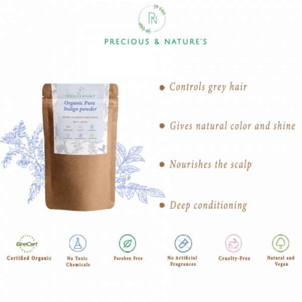 Precious Nature Certified Organic Indigo Powder, 100gm