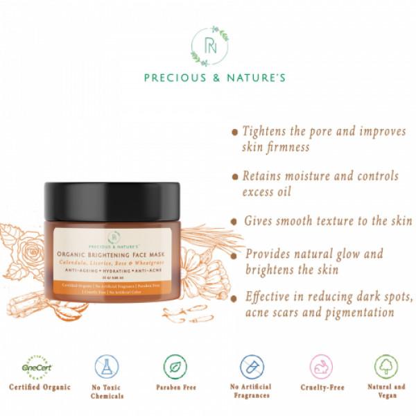 Precious Nature Certified Organic Skin Brightening, Hydrating & Glow Kit, 4's