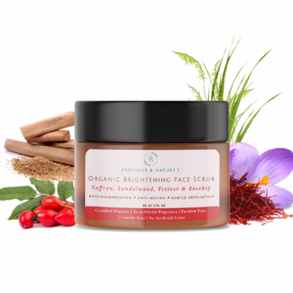 Precious Nature Organic Brightening Face scrub, 50gm