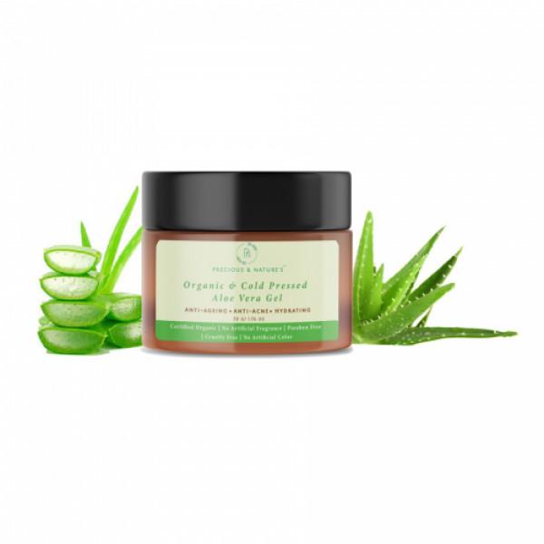 Precious Nature Certified Organic & Cold-pressed Pure Aloe Vera gel, 50gm