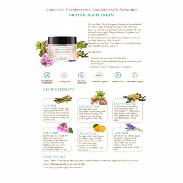 Precious Nature Organic Anti ageing Night cream, 40gm