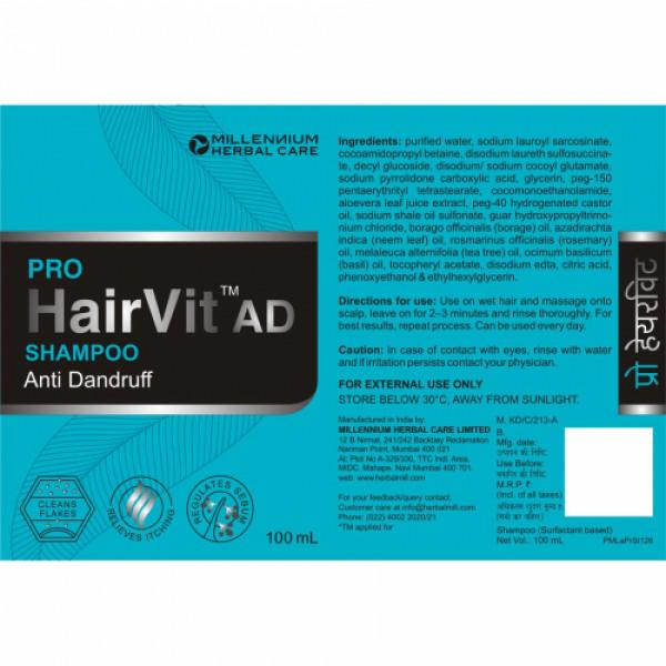 Millennium Herbal Care Pro Hairvit Ad Shampoo, 100ml