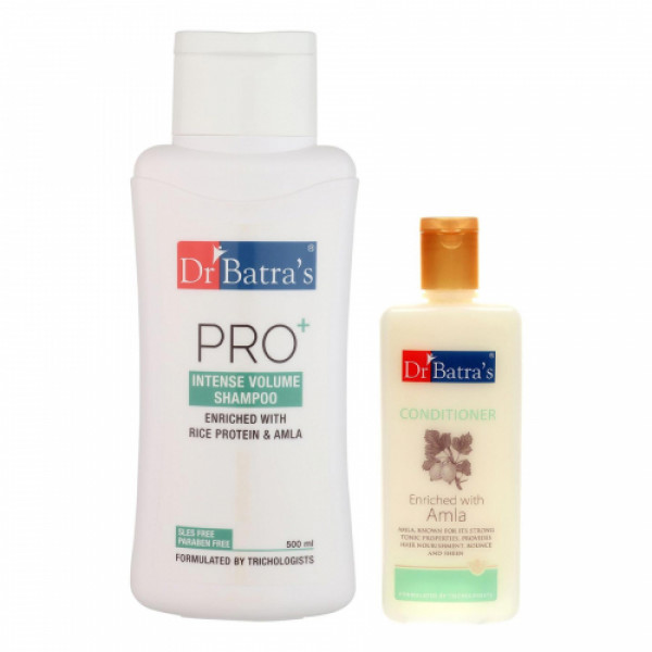 Dr Batra's Pro+Intense Volume Shampoo And Dr Batra's Conditioner Combo (Pack of 2)
