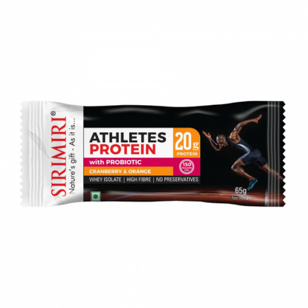 Sirimiri Probiotic Athletes Assorted Protein Bar, 65gm (Pack Of 6)