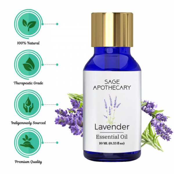 Sage Apothecary Lavender Essential Oil, 10ml