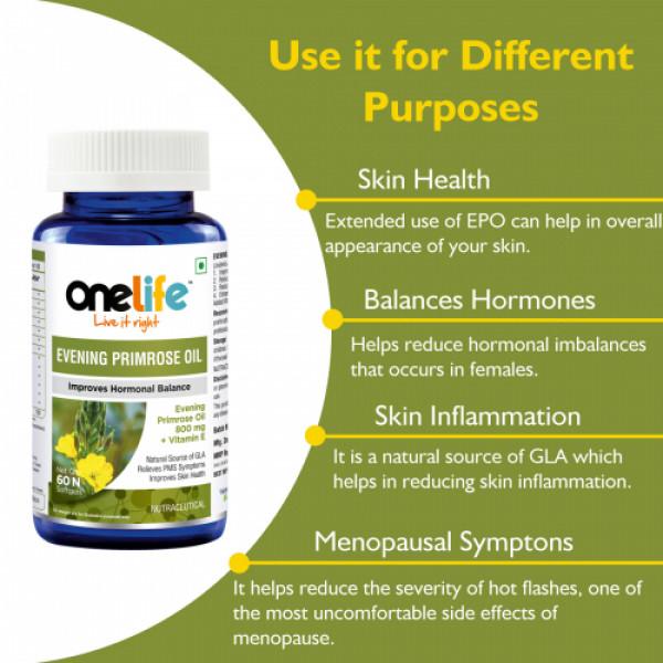 Onelife Evening Primrose Oil, 60 Softgels