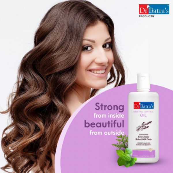 Dr Batra's Hair Fall Control Serum, Conditioner, Hair Oil, With Hair Fall Control Shampoo Combo Pack