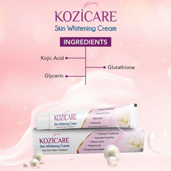 Kozicare Kojic Acid, Arbutin, Glutathione Skin Cream, 15g