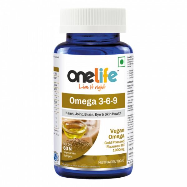 Onelife Vegan Omega 3, 60 Softgels