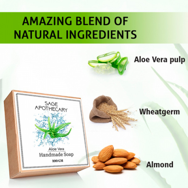 Sage Apothecary Aloevera Soap, 100gm