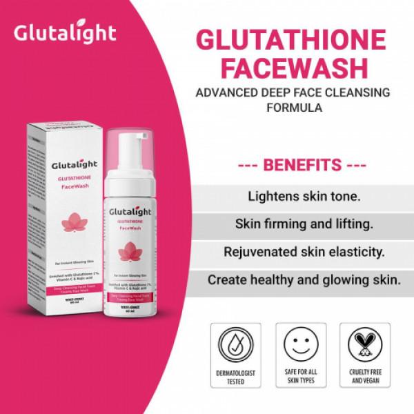 Glutalight Glutathione Face Wash, 60ml