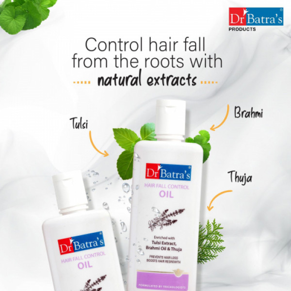 Dr Batra's Hair Fall Control Serum, Conditioner, Hair Oil with Hair Fall Control Shampoo Combo Pack