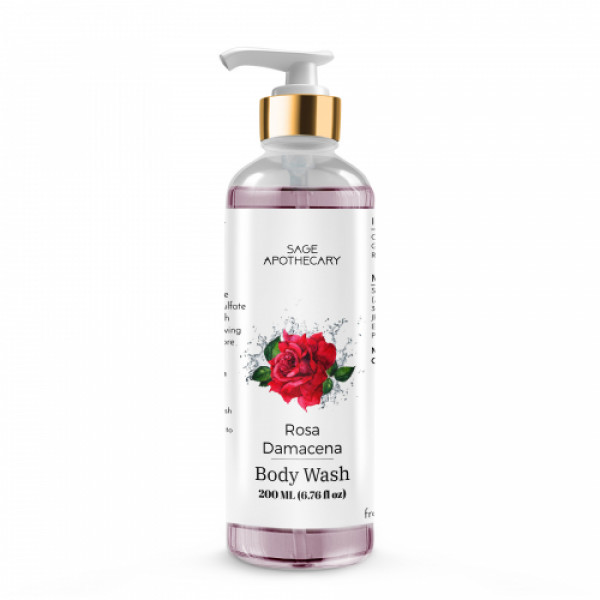 Sage Apothecary Rosa Damacena Body Wash, 200ml