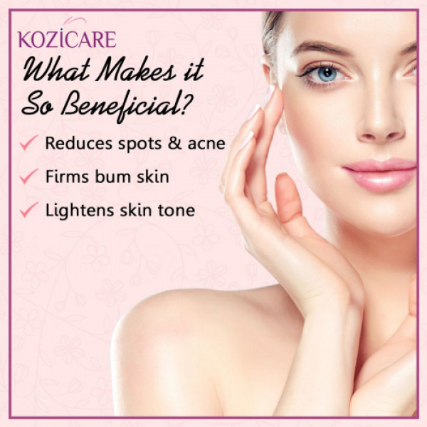 Kozicare Bum Cream with Glutathione, Niacinamide & Kojic Acid, 50gm