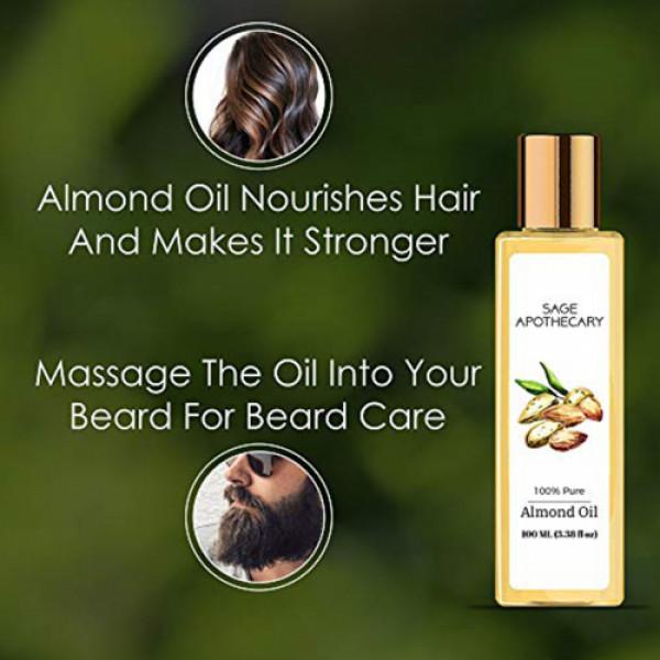 Sage Apothecary Almond Oil, 100ml