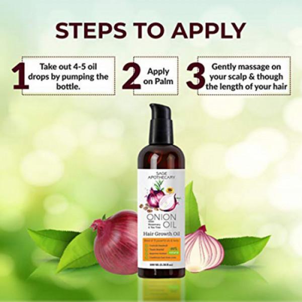 Sage Apothecary Onion Hair Oil, 100ml