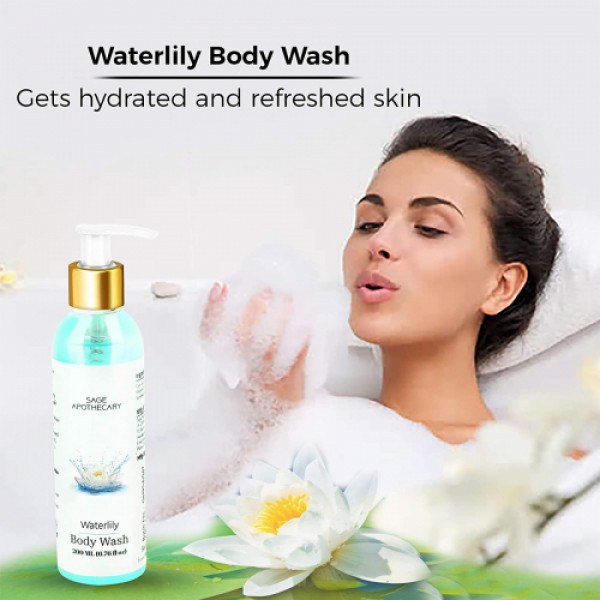 Sage Apothecary Waterlily Body Wash, 20ml