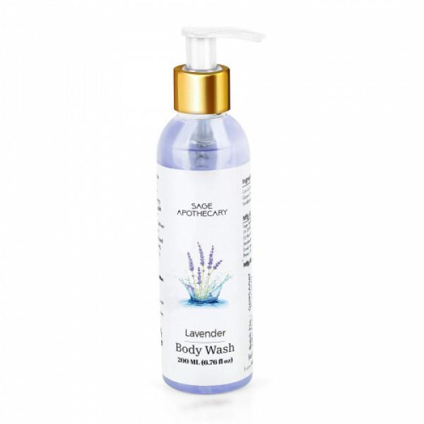 Sage Apothecary Lavender Body Wash, 200ml