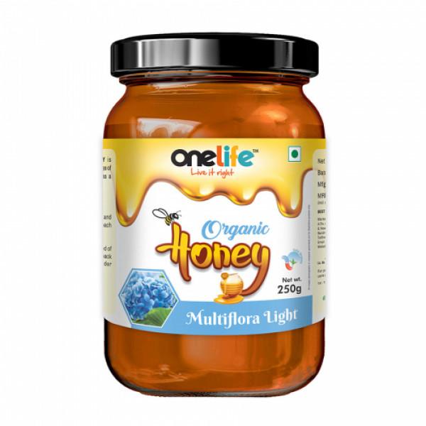 Onelife Multiflora Light Organic Honey, 250gm