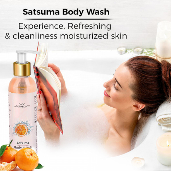 Sage Apothecary Satsuma Body Wash, 200ml