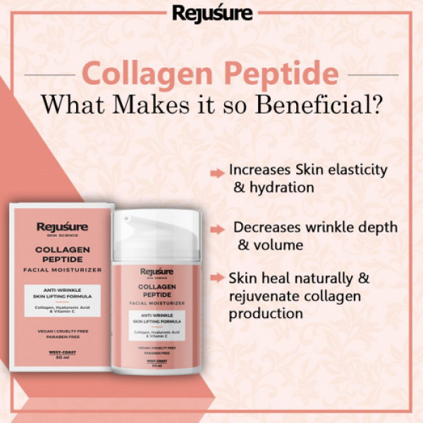 Rejusure Collagen Peptide Facial Moisturizer, 50ml