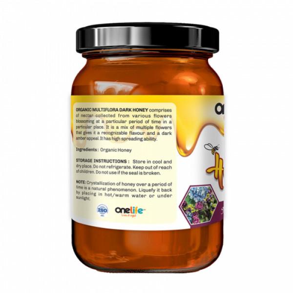 Onelife Multiflora Dark Organic Honey, 250gm
