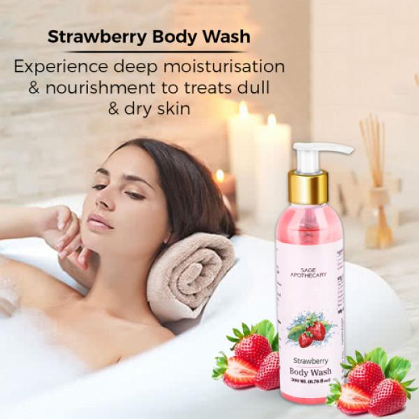 Sage Apothecary Strawberry Body Wash, 200ml