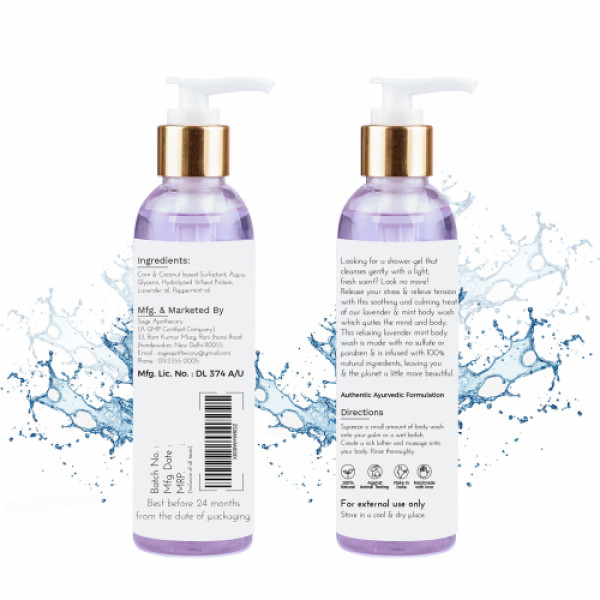 Sage Apothecary lavender & Mint Body Wash, 200ml