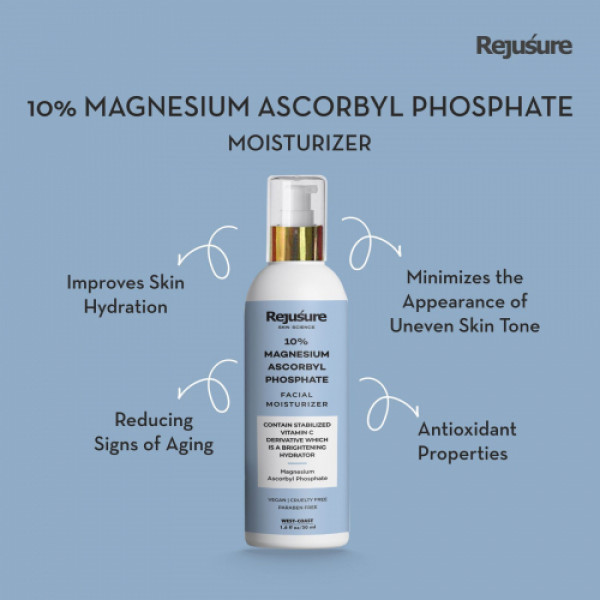 Rejusure 10% Magnesium Ascorbyl Phosphate Facial Moisturizer Cream, 50ml