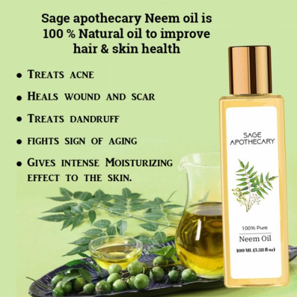 Sage Apothecary Neem Oil, 100ml