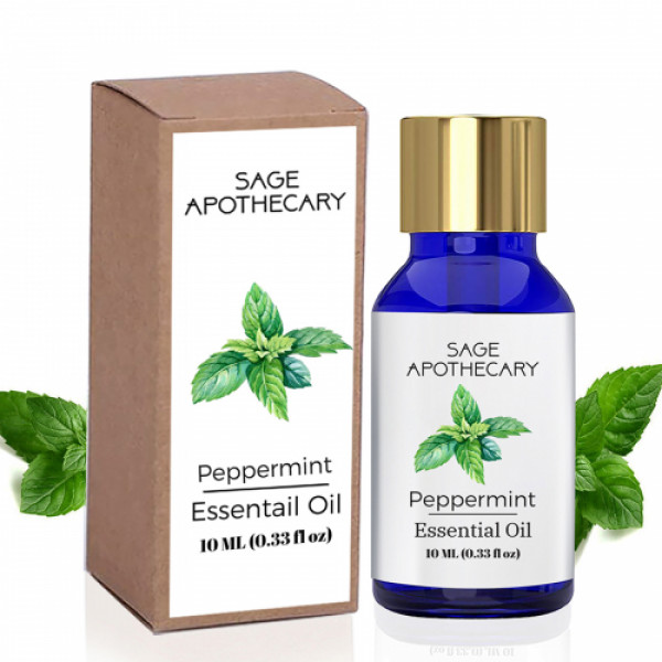 Sage Apothecary Peppermint Essential Oil, 10ml