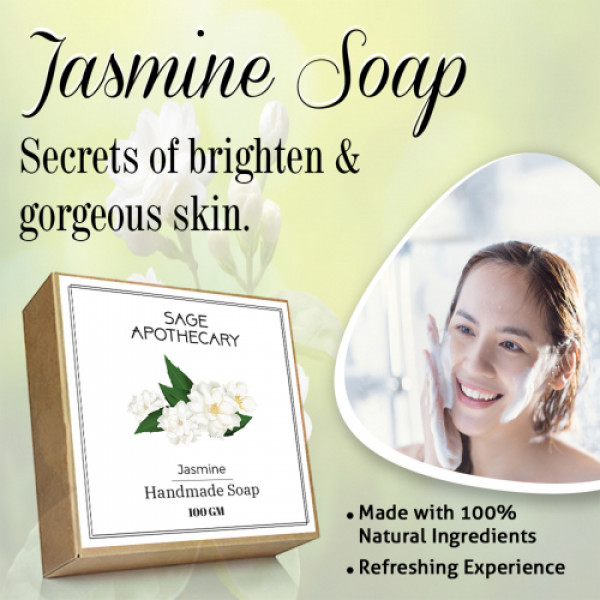 Sage Apothecary Jasmine Soap, 100gm