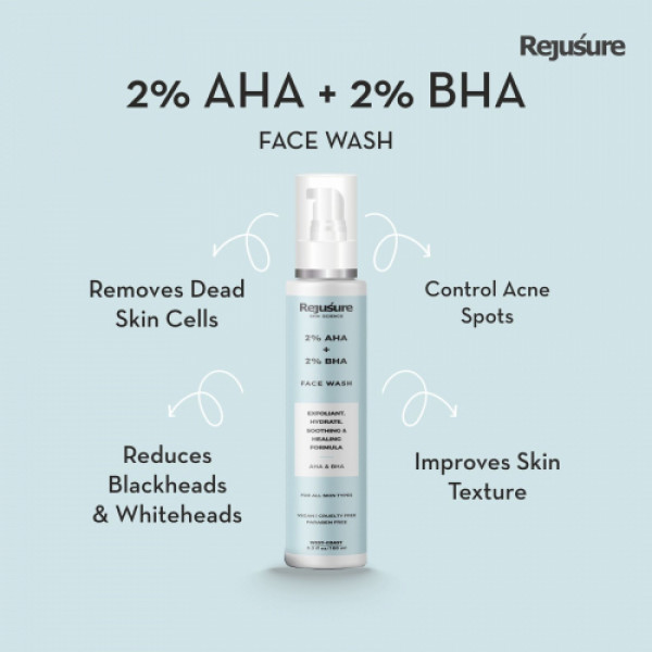Rejusure Face Wash for Exfoliant & Hydrate, 100ml